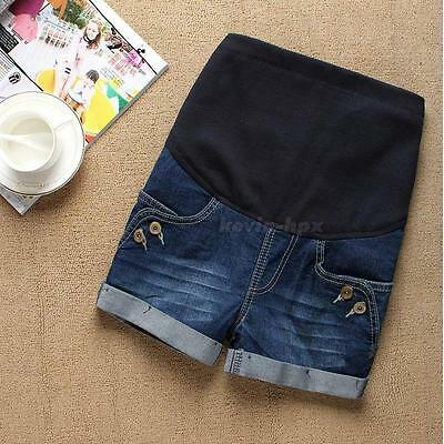 Comfortable Casual Denim Maternity Short Pants Great for Pregnant Women MSYG
