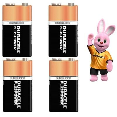 4 x Duracell 9V Long Lasting Power Batteries, Smoke Alarms (LR22, MN1604, 6LR61)