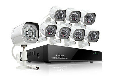 Zmodo 8 Camera All-in-One sPoE NVR Security System (2TB)