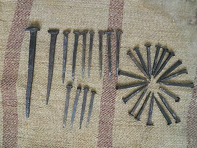Lot of 31 pieces antique extremely rare  hand forged iron nails from 15-16c