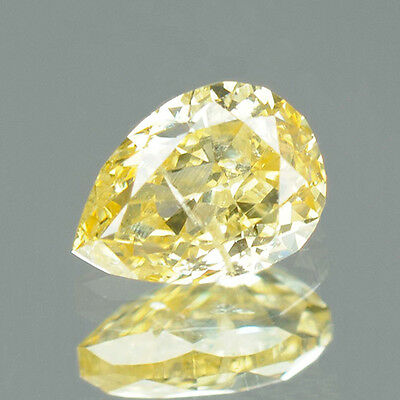 0.26 ct Certified Pear Brilliant Cut SI3 Fancy Yellow Loose Natural Diamond 7924