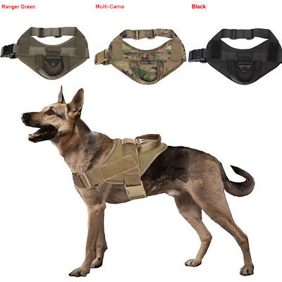 Tactical K9 Trainning Service Dog Harness Nylon Dog Vest with Handle Control