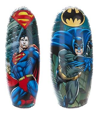 Superman / Batman Inflatable Punching Boxing Bopper Bag Weighted Kids Toy Gift