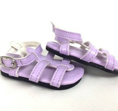 "Doll Clothes 18"" Sandals Shoes Lavender Strap Fits American Girl Dolls"