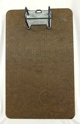 """Vintage Clipboard w/ Metal Clip Paper Holder Made in Canada """"ANTHES"""""""