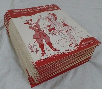 Antique Vintage Sheet Music 1949 When Our Country Was Born Lot of 300+