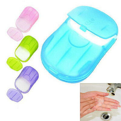 4box Washing Slice Sheets Portable Hand Bath Travel Scented Foaming Paper Soap Z