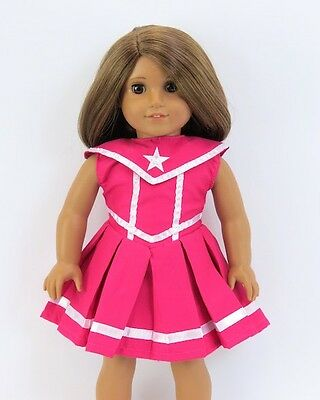"Doll Clothes 18"" Dress Pink White Star American Girl Dolls"