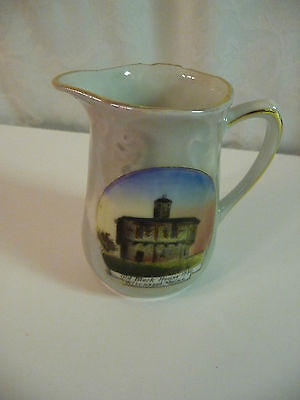 Wiscasset Maine Souvenir Pitcher Vintage / Antique Old Block House 1780 - small