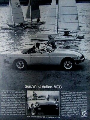 1978 MGB Sun Wind Action MGB-MG Sports Car Original Print Ad 9 x 11""