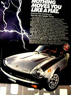 1981 Fiat Spider Turbo Original Print Nothing Moves You Like A Fiat-8.5 x 10.5""