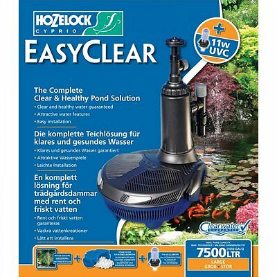 NEW Hozelock Easyclear All In One Pond Filter/Pump & UV 7500 Easy Clear
