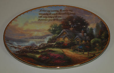 Bradford Exchange THOMAS KINKADE Plate GUIDING LIGHTS 5th Issue NEW DAY DAWNING