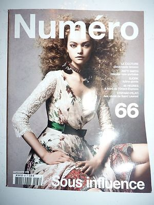Magazine mode fashion NUMERO french #66 septembre 2005 with missing pages