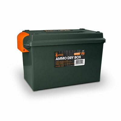 New Ammo Box 50 Cal Plastic Water Resistant Lockable Ammunition Dry Tool Box