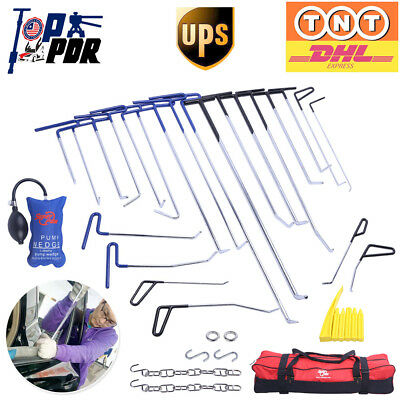 Paintelss Dent Repair Spring Steel Rods Auto PDR Tools Hail Removal Kits