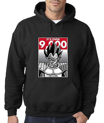 f50c00e69063f New Way 350 - Hoodie Hooded Sweatshirt It s Over 9000 Vegeta Goku Dragon  Ball Z