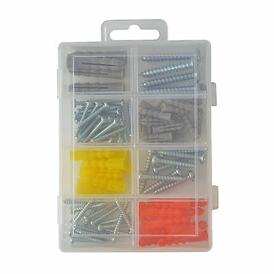 New Metal Self Phillips Screw 50pcs & Anchor 50pcs Assortment Set
