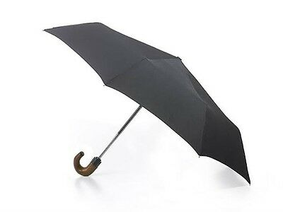 Fulton Mens Open & Close 11  Automatic Wooden Handle Umbrella