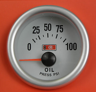 S2 Universal 52mm Oil Pressure gauge supplied with 1/8npt Sender New