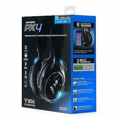 Turtle Beach Ear Force PX4 - Wireless Dolby Headset für Ps3, Ps4, Xbox 360 - OVP
