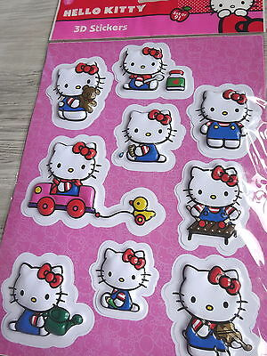 Hello Kitty--3D Stickers--9 Sticker--Aufkleber--Auto, Musik...!