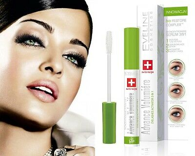 Eveline 3in1 Advance Volumiere Eyelashes Concentrated Serum 10ml Growth Promoter