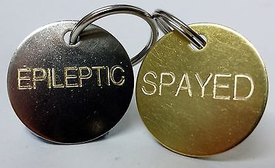 Engraved Medical Illness Pet Tag Collar Tags spayed neutered Dog Cat ID diabetic