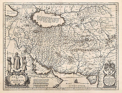 HJB-AntiqueMaps : 1634 Map of Persia by Blaeu