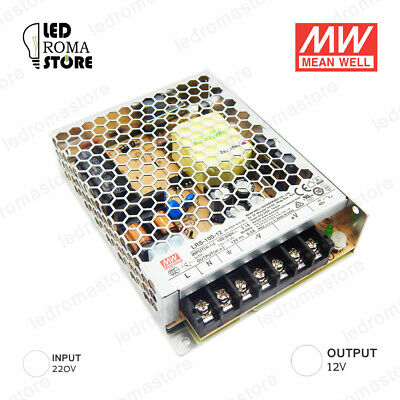 Alimentatore Switching Mw  100W 12V Dc 8.33A Ip20 Mean Well Rs-100-12