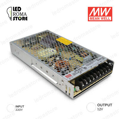 Alimentatore Switching Mw 200W 12V 16.66A Ip20 Mean Well Rsp-200-12