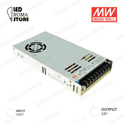 Alimentatore Switching Mw 320W 12V Dc 26.66A Ip20 Mean Well Rsp-320-12