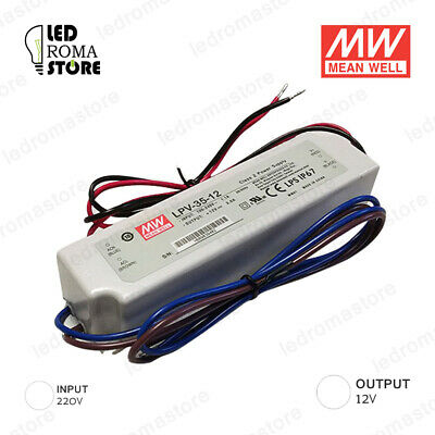 Alimentatore Switching Mw 35W 12V Dc 2.91A Ip67 Mean Well Lpv-35-12