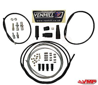 Venhill Universal 1 Into 2 Dual Split Throttle Cable Kit 2 Stroke