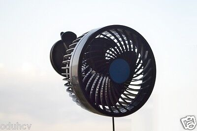 New 12V Cooling Oscillating Fan Car Truck Regulate Airflow Stepless Speed Switch
