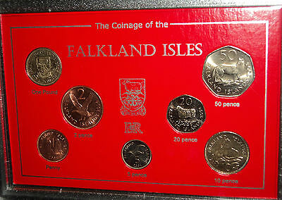 Coinage of the Falkland Islands Isles (Animals & Birds) BU Coin Display Gift Set