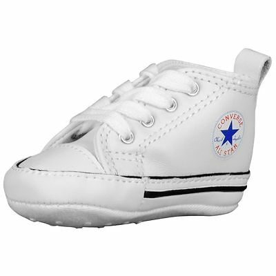 9bcdecd056a37a Converse Newborn Crib White Leather 81229 First All Star Baby Shoes Sz 1-4