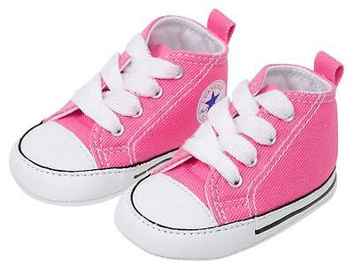 CONVERSE NEWBORN CRIB BOOTIES Pink 88871 FIRST ALL STAR BABY SHOES SZ 1-4