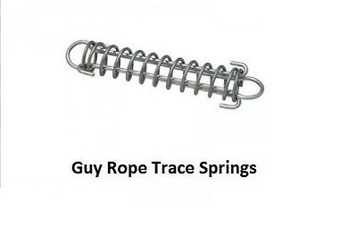 20 X Supex 150Mm Trace Spring Guy Rope Accessory Camping Tarp Poles 38C