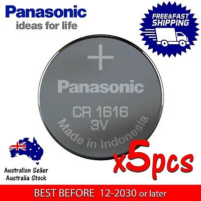 5x PANASONIC CR1616 3v 55mAh lithium Battery button cell/coin for watches