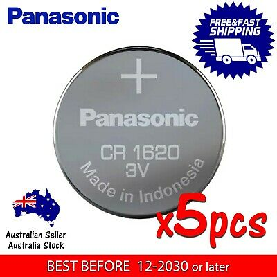 5x PANASONIC CR1620 3v 75mAh lithium Battery button cell/coin for watches