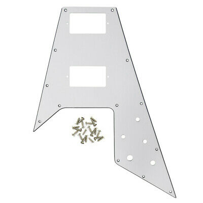 NEW White Color 1PCS Guitar Pickguard for Gibson Flying V Guitar Scratch Plate