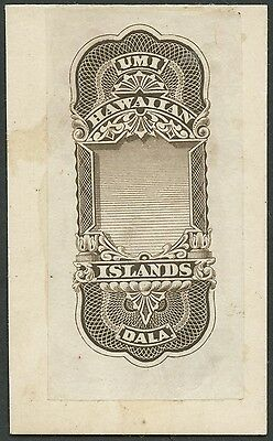 Hawaii #r5E 1877 Superb Gem Die Essay $10 India On Card Brown Ext Rare Wlm428