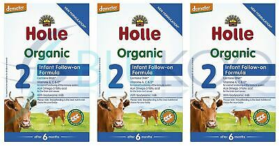 Holle Organic Infant Follow-On Formula 2 - 600g (Pack of 3)