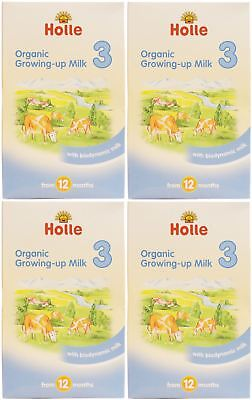 Holle Organic Growing Up Milk 3 - 600g (Pack of 4)