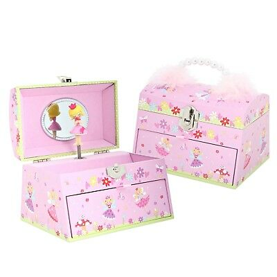 Pink Fairy Tale Kids Girls MUSICAL JEWELLERY BOX - Music Box - Lucy Locket