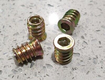 Threaded Inserts for Timber Chair & Table Legs (Set of 4 inserts/knurls )