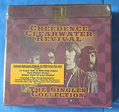 CREEDENCE CLEARWATER REVIVAL-CCR  Deluxe Set mit 15 Singes 45 Rpm records
