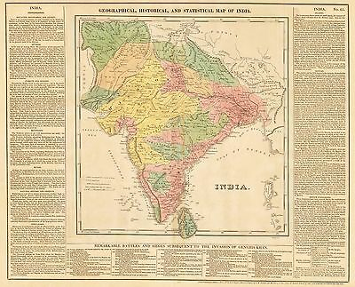 HJB-AntiqueMap : 1821 Map of India by Lavoisne