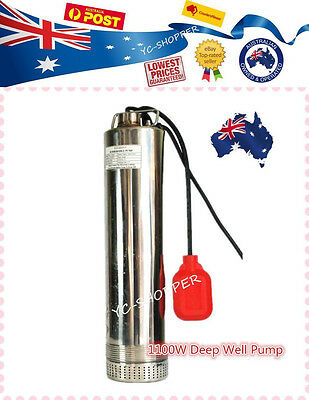 1100W Stainless Steel Submersible Deep Bore Well Sump Water Pump